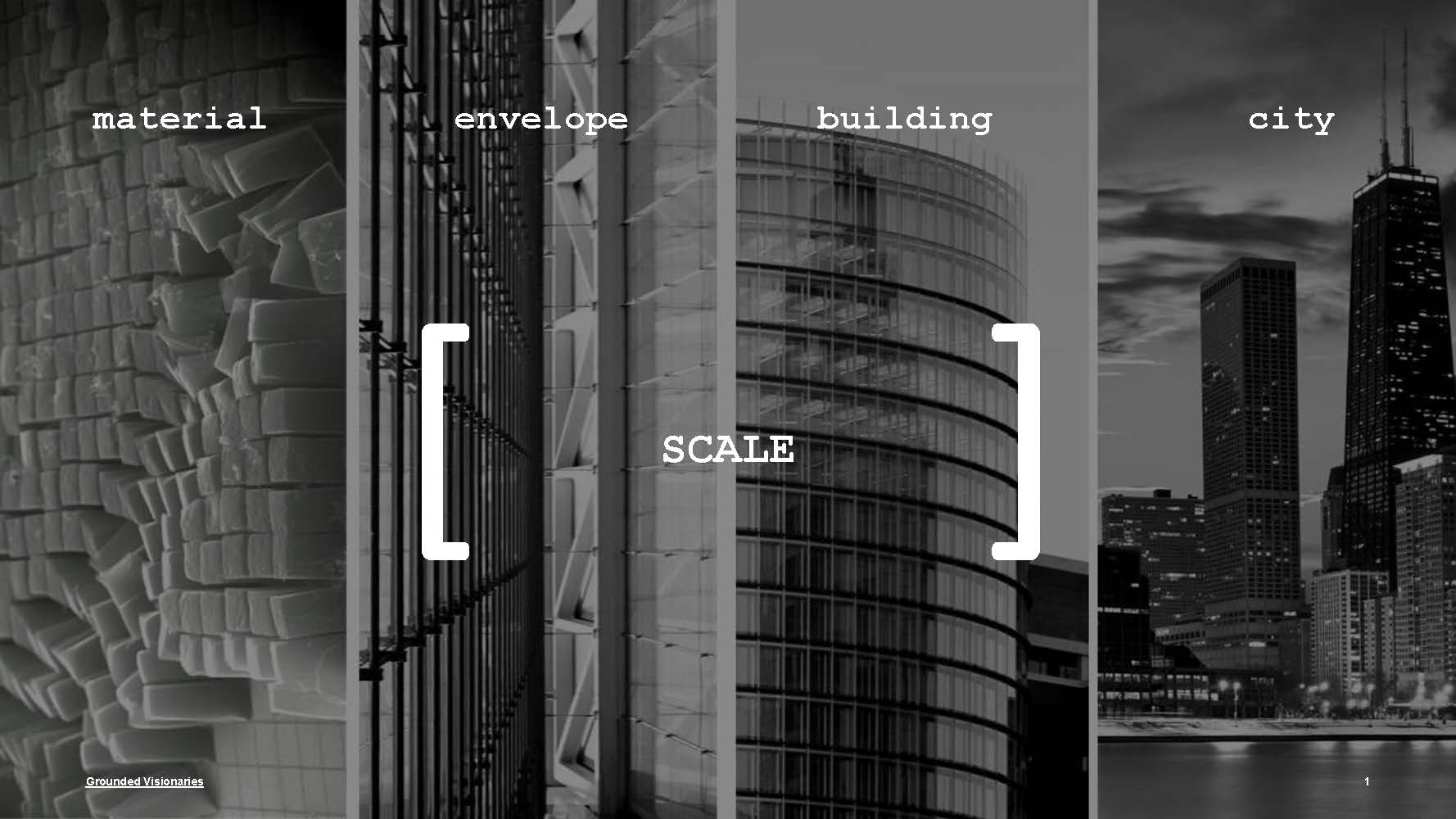 Scales of the built environment