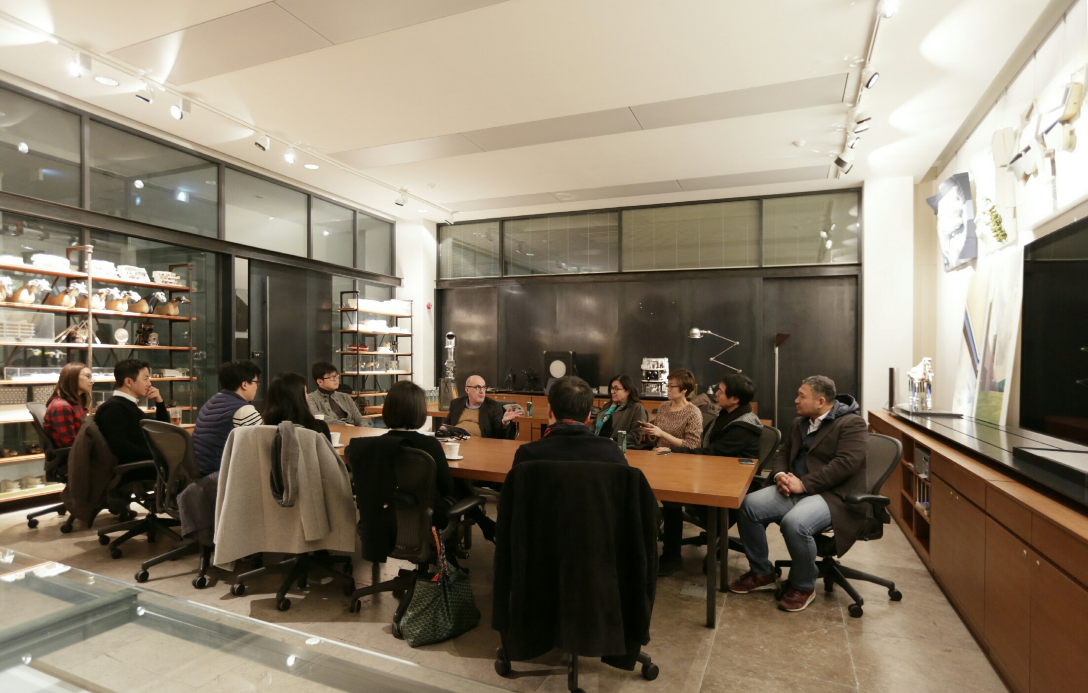 GSD Alumni Talk and Dinner with Antoine Picon, G. Ware Travelstead Professor of the History of Architecture and Technology and director of research at the GSD, at SKM Architects with Ken Sungjin Min MAUD '93 (Dec. 7.)