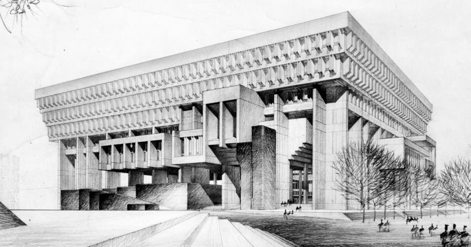 Boston City Hall-Henry Austin Wood III