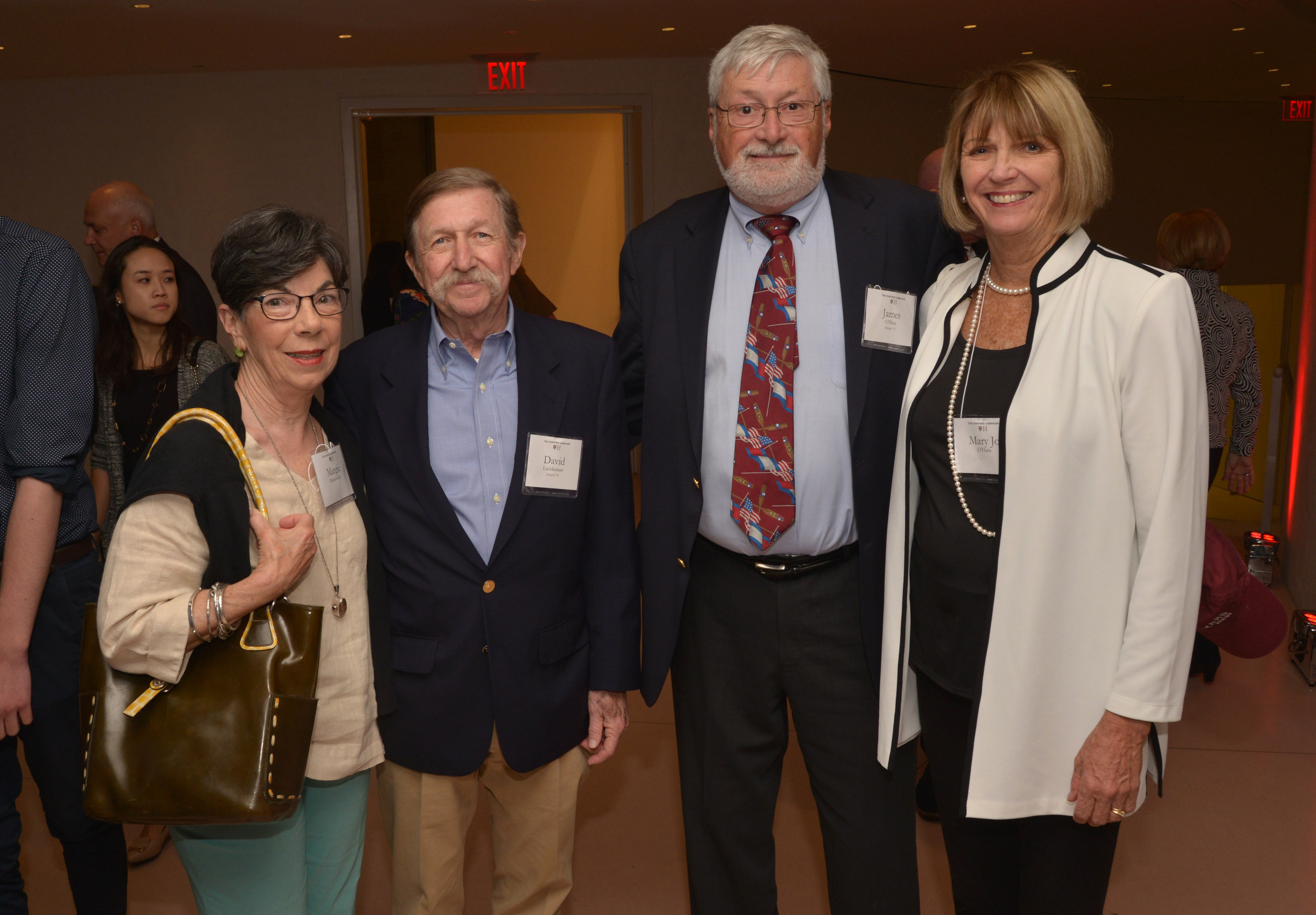 Margie Hanselman, David Luebkeman MArch '73, GSD Alumni Council member James O'Hara MArch '73, and Mary Jo O'Hara.