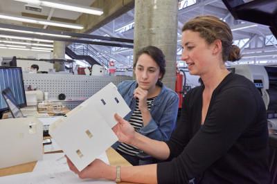 Desk crit with Megan Panzano