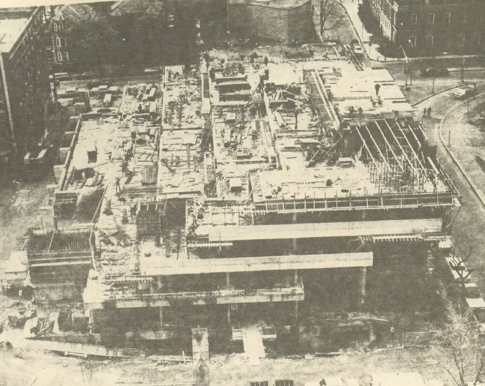 Construction of Gund Hall (1972)