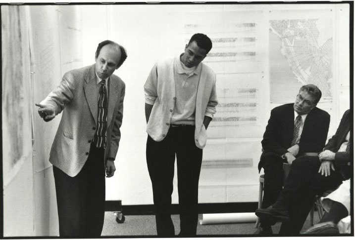 Student with Professor Alex Krieger (1990s)
