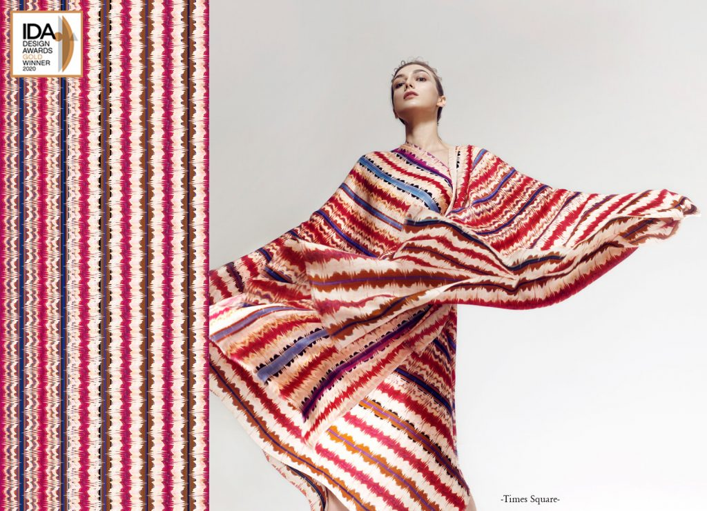 Model with Times Square scarf
