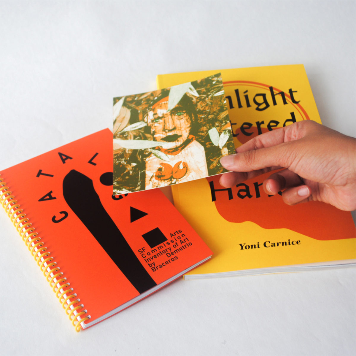 Photo of his new publication Sunlight Entered His Hands p