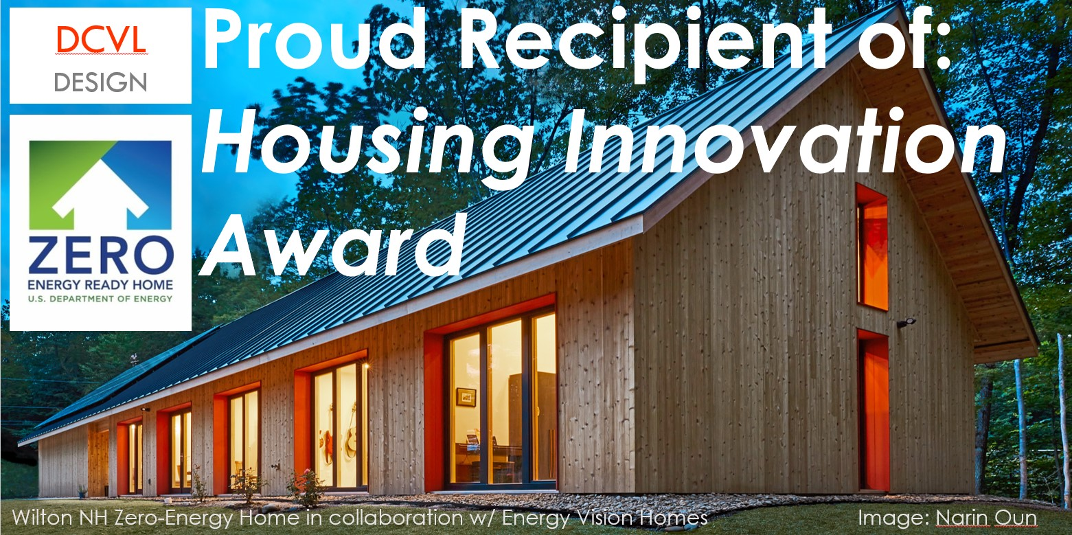 Image of house with Housing Innovation Award graphic